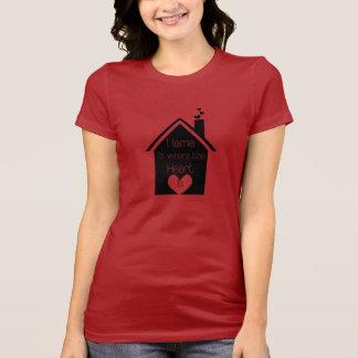 El hogar es donde está el corazón playera