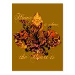 El hogar es donde está el corazón tarjetas postales