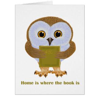 El hogar es donde está el libro felicitacion