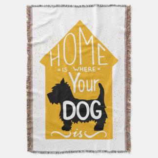 El hogar es donde está el perro manta