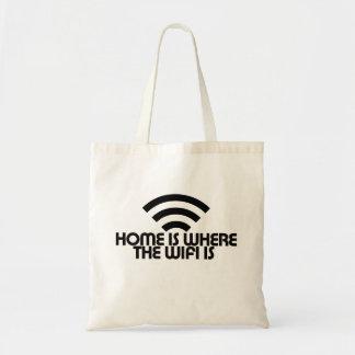 El hogar es donde está el wifi bolsas
