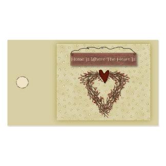 El hogar es donde está etiqueta colgante el tarjetas de visita
