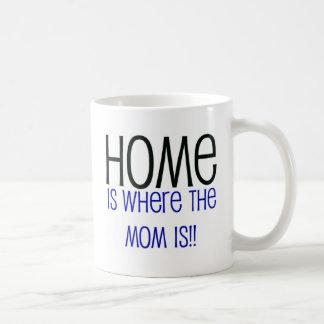 El hogar es donde está la mamá tazas de café