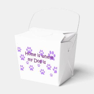 El hogar es donde está mi perro cajas para regalos de boda