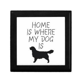 El hogar es donde está mi perro (el golden retriev caja de recuerdo