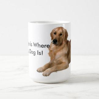 El hogar es donde está mi perro tazas de café