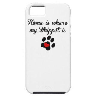 El hogar es donde está mi Whippet iPhone 5 Protectores