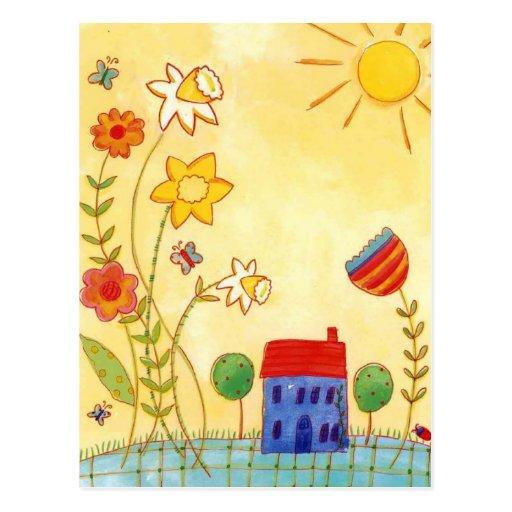 el hogar es donde está postal el corazón