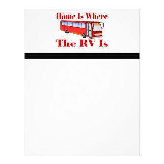El hogar es donde está rv membretes personalizados