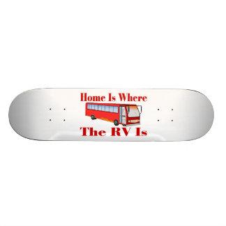 El hogar es donde está rv patin personalizado