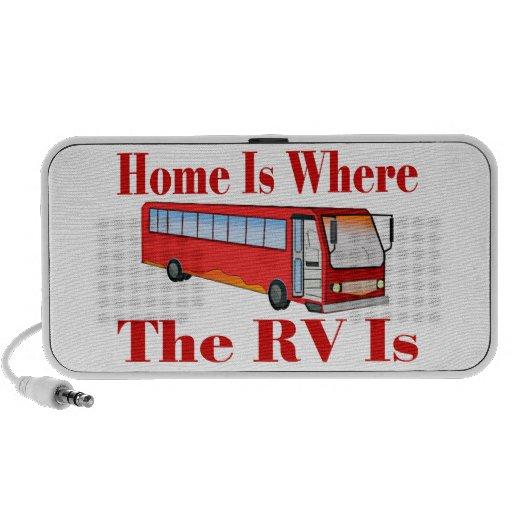 El hogar es donde está rv portátil altavoces