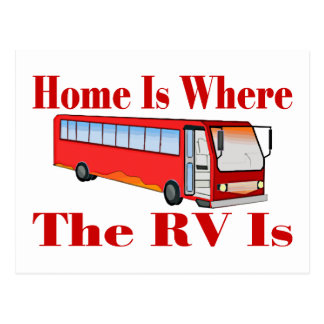 El hogar es donde está rv tarjeta postal