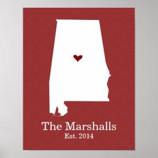 El hogar es donde está su corazón - Alabama Impresiones