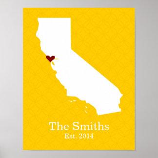 El hogar es donde está su corazón - California Póster