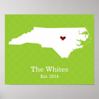 El hogar es donde está su corazón - Carolina del N Póster