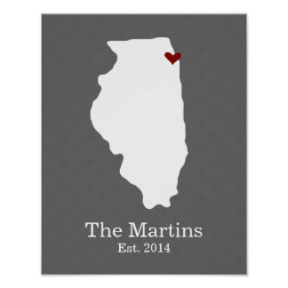 El hogar es donde está su corazón - Illinois Poster