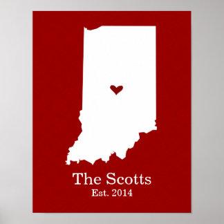 El hogar es donde está su corazón - Indiana Poster