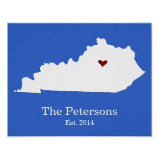 El hogar es donde está su corazón - Kentucky Posters