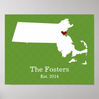 El hogar es donde está su corazón - Massachusetts Póster