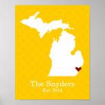 El hogar es donde está su corazón - Michigan Impresiones