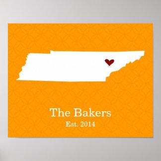 El hogar es donde está su corazón - Tennessee Poster