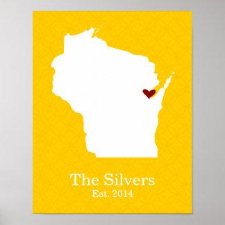 El hogar es donde está su corazón - Wisconsin Impresiones
