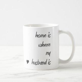 El hogar es donde está taza mi marido