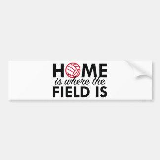 El hogar es donde está The Field Pegatina Para Auto