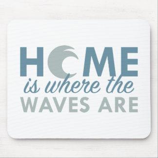 El hogar es donde están las ondas mouse pad