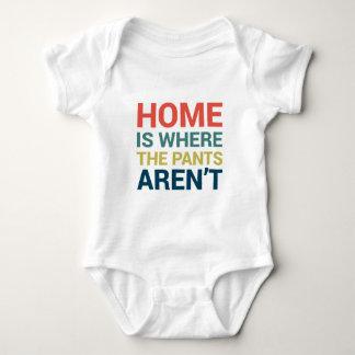 El hogar es donde no están tipografía los playera
