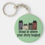 ¡El hogar es donde su historia comienza! Llaveros Personalizados