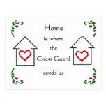El hogar es donde tarjeta postal