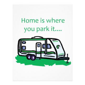 """El hogar es donde usted lo parquea folleto 8.5"""" x 11"""""""