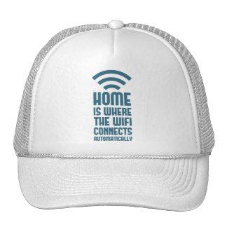 El hogar es donde WIFI conecta automáticamente Gorras