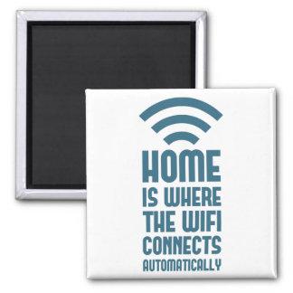 El hogar es donde WIFI conecta automáticamente Iman De Nevera