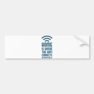El hogar es donde WIFI conecta automáticamente Pegatina Para Auto