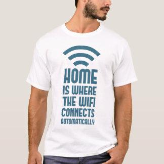 El hogar es donde WIFI conecta automáticamente Playera
