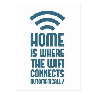 El hogar es donde WIFI conecta automáticamente Postal