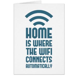 El hogar es donde WIFI conecta automáticamente Tarjeta De Felicitación