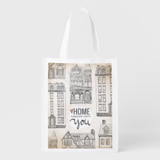 El hogar es dondequiera que esté con usted bolsa de la compra