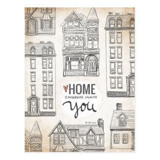 El hogar es dondequiera que esté con usted postales