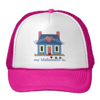 El hogar es Malamute de Alaska Gorra