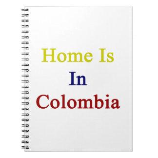 El hogar está en Colombia Libros De Apuntes Con Espiral