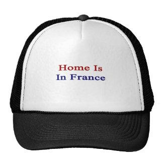 El hogar está en Francia Gorro De Camionero
