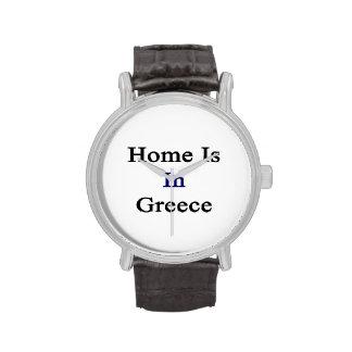 El hogar está en Grecia Reloj De Mano
