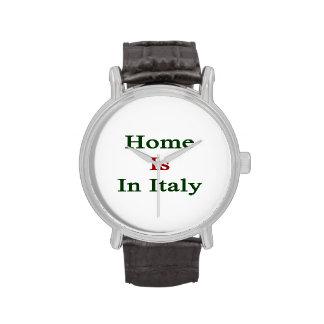 El hogar está en Italia
