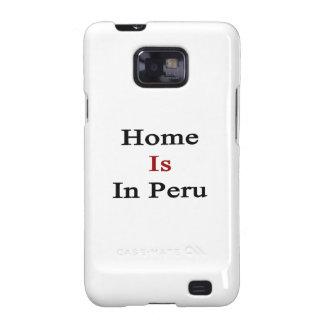 El hogar está en Perú Galaxy SII Fundas