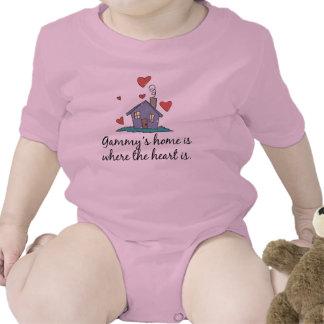 El hogar Gammy es donde está el corazón Trajes De Bebé