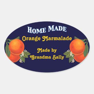 El hogar hizo a los pegatinas de enlatado pegatinas de óval