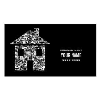 El hogar moderno de la casa mantiene la tarjeta de plantilla de tarjeta de visita